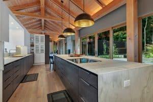 Custom Home Kitchen cabinets and island