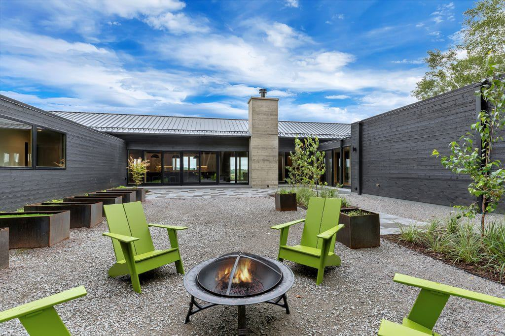 2018 Tour of Homes Courtyard Firepit