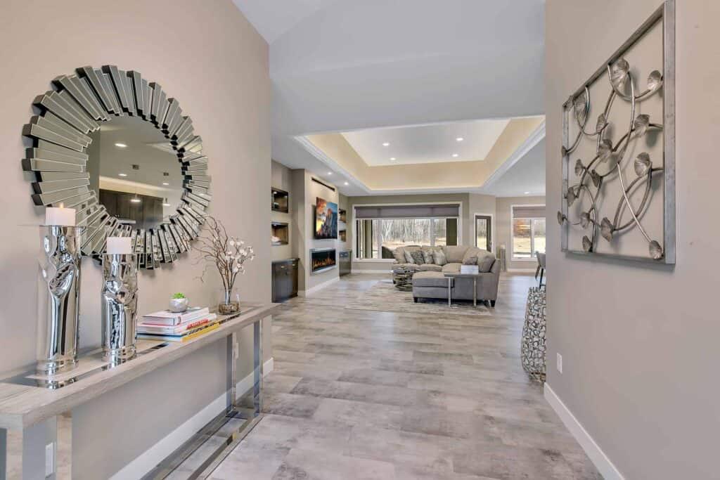 Dream Custom Patio Home Entrance to Living Room
