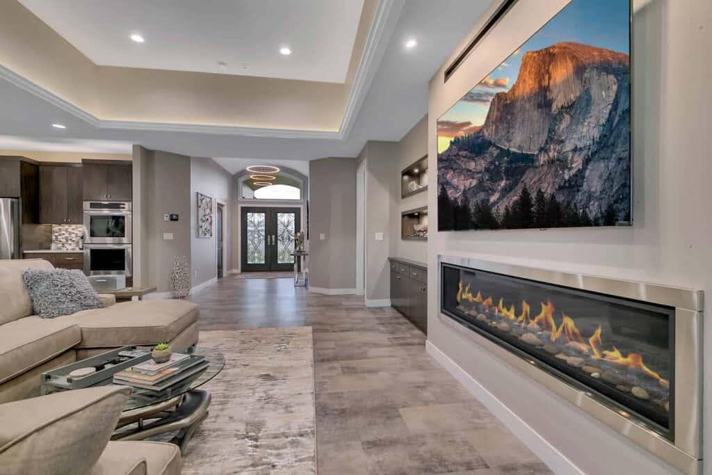 Dream Custom Patio Home Living Room to Entrance
