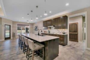 Custom Home Kitchen Island and cabinets