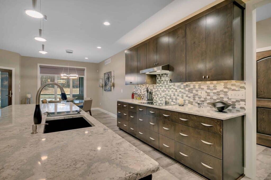 Dream Custom Patio Home Cabinets and Island