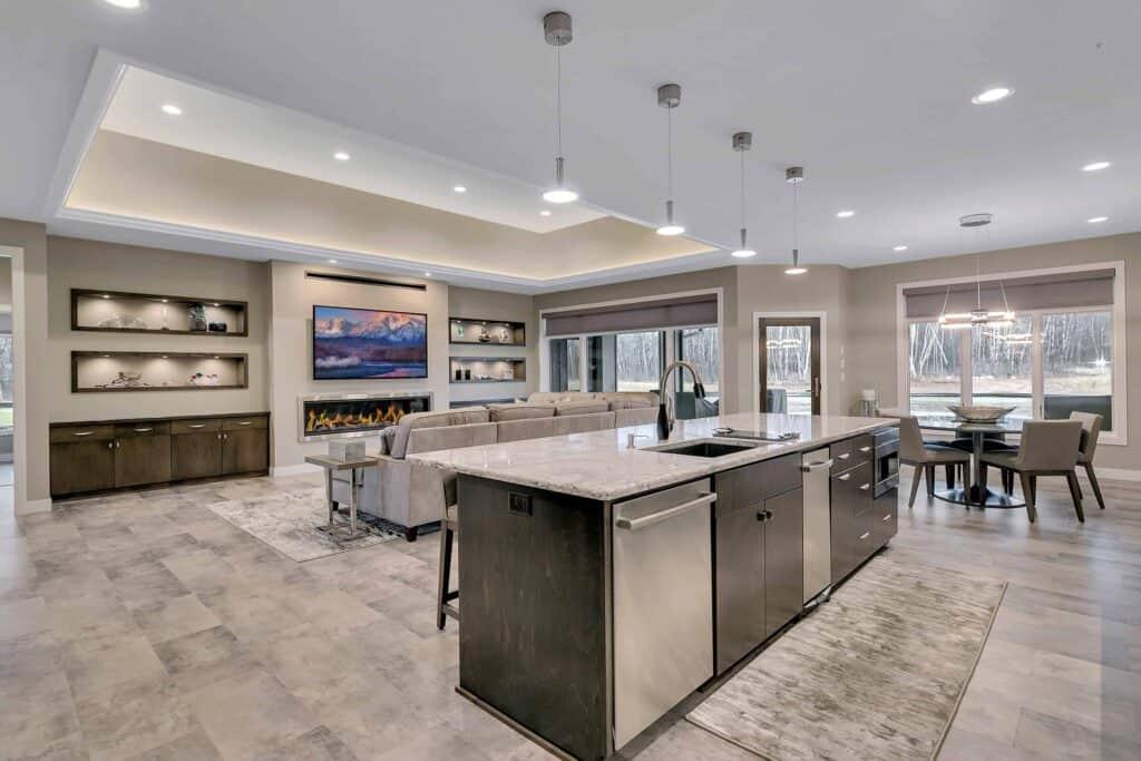 Dream Custom Patio Home Kitchen to Living Room