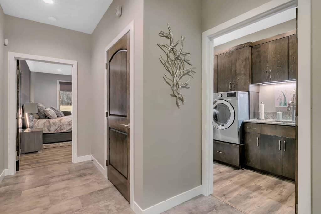 Dream Custom Patio Home Hallway to Laundry Room