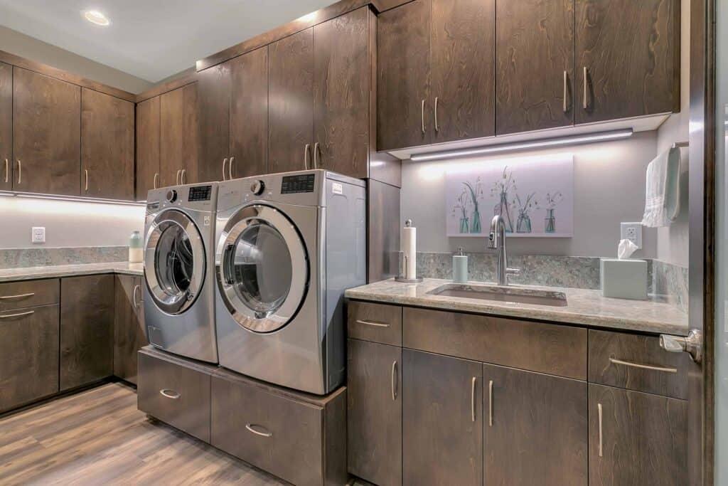 Dream Custom Patio Home Laundry Room