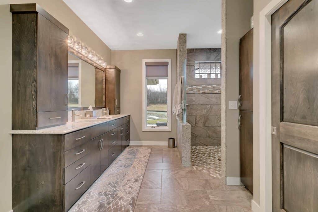 Dream Custom Patio Home Master Bath Shower and Vanity