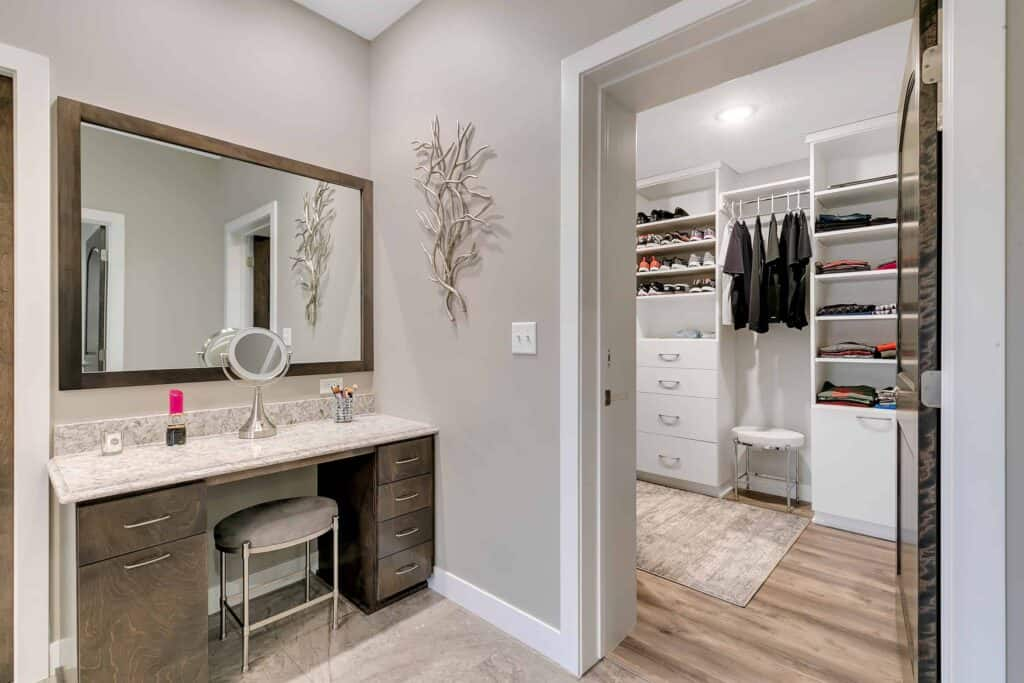 Dream Custom Patio Home Bath and Walk in Closet